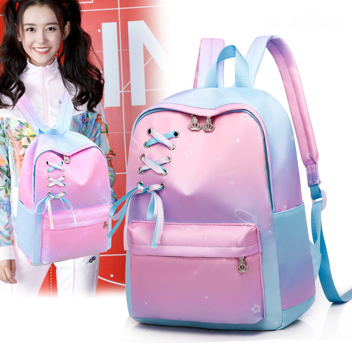 Kawaii  Japanese  Korean Gradient color cute ins girl backpack