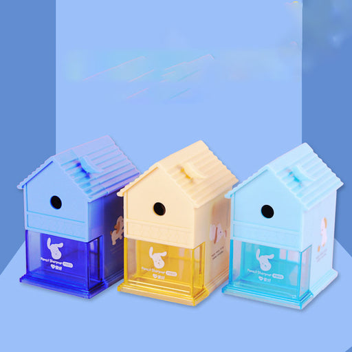 Kawaii  Japanese  Korean Automatic pen-feeding pencil hand-cranked pencil sharpener sharpener practical labor-saving stationery