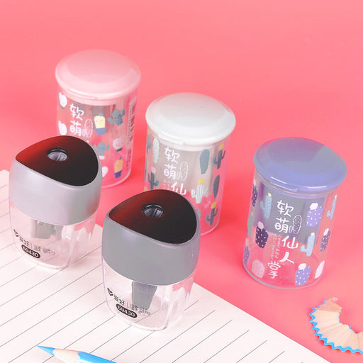 Kawaii  Japanese  Korean Left and right rotary sharpener for detachable chip storage box