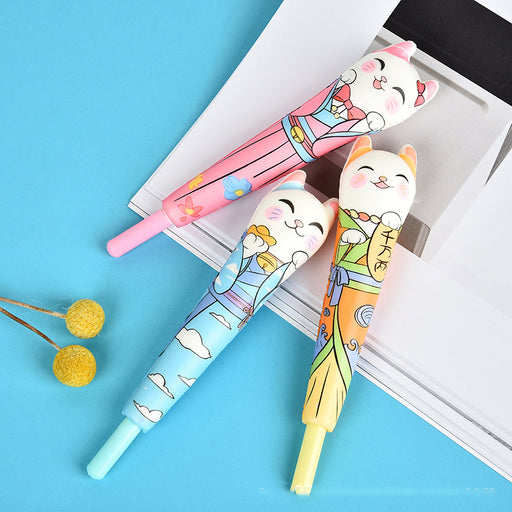 Kawaii  Japanese  Korean Cartoon lucky cat decompression vent pen