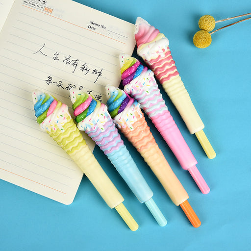 Kawaii  Japanese  Korean squishy ice cream pressure relief pen