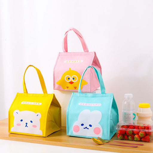 Kawaii  Japanese  Korean  Environmental protection thickened aluminum foil lunch bag thermal insulation cold storage bag