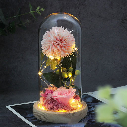 Kawaii  Japanese  Korean - Dandelion Rose Eternal Flower Gift Light