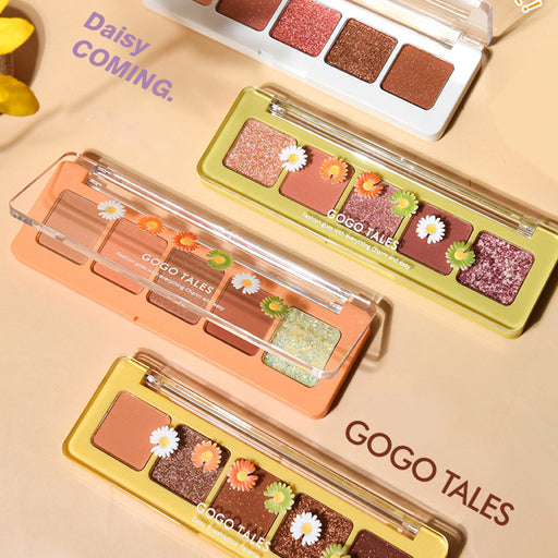Makeup GOGOTALES Gogo Dance Heartbeat Little Daisy Star Eye Shadow Palette Matte Compact Keyboard Five Color Eyeshadow
