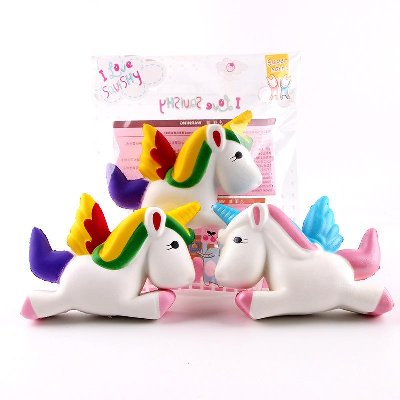 Silly Squishy - Colorful winged horse unicorn Squishy