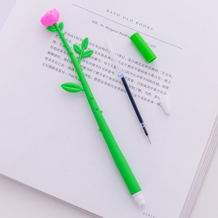 T Korea stationery creative cute cartoon simulation flower gel pen small fresh girl office learning signature pen