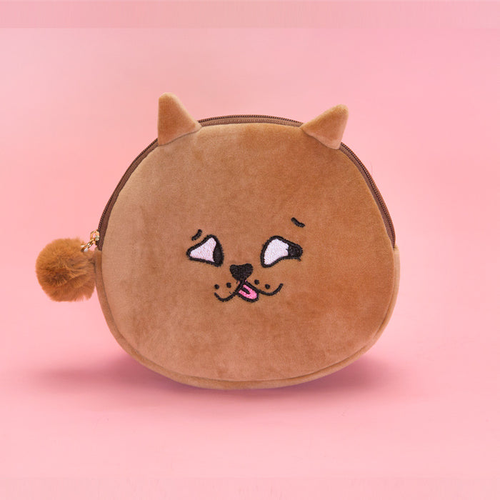 Cross-eyed animal shell bag original sufeng make up bag embroidery creative hand bag