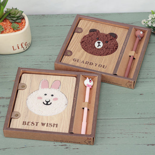 Korean Wooden Bear Notebook