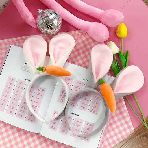 Kawaii  Japanese  Korean Funny selling cute carrot rabbit ears headband