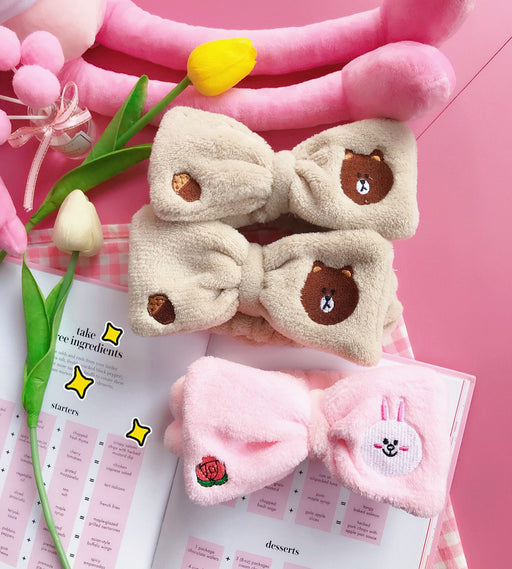 Kawaii  Japanese  Korean   Brown Bear and Connie Rabbit Hair Band Kakao Hair Band