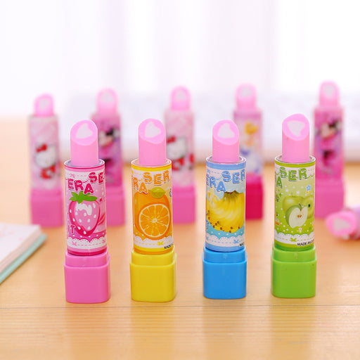 Kawaii  Japanese  Korean  Cartoon lipstick fruit eraser