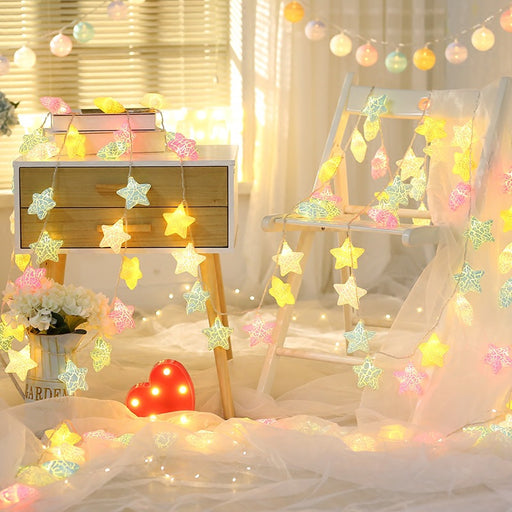 Kawaii Japanese Korean led lights flashing lights/starry girl heart room decoration dormitory decoration lights