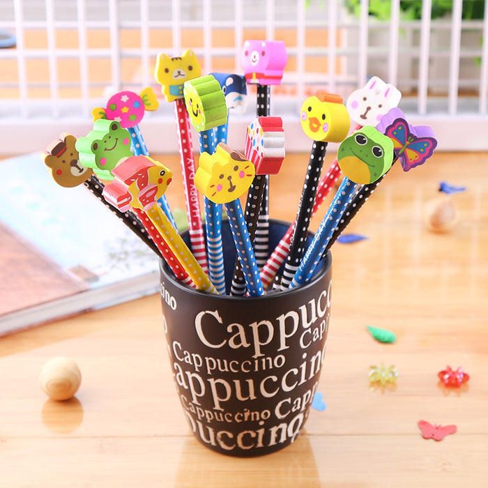 Kawaii  Japanese  Korean  Pencil with cartoon eraser