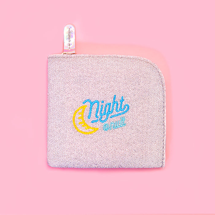 Shiny round corner zero wallet girl instagram style earphone collection art students wallet