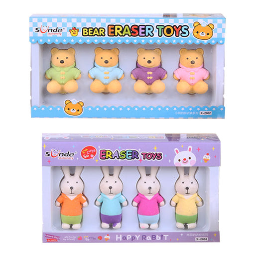 Kawaii  Japanese  Korean  Cute bear bunny boxed eraser