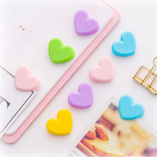Kawaii  Japanese  Korean Soft sister pink love small clip photo decoration folder folder