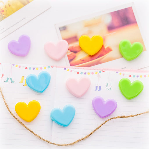 Kawaii Japanese Korean cute pink decorative clip-1 package: 10pcs