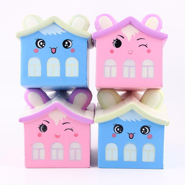 Silly Squishy - Kawaii Korean Japanese Bear house slow rebound decompression toy ear Squishy