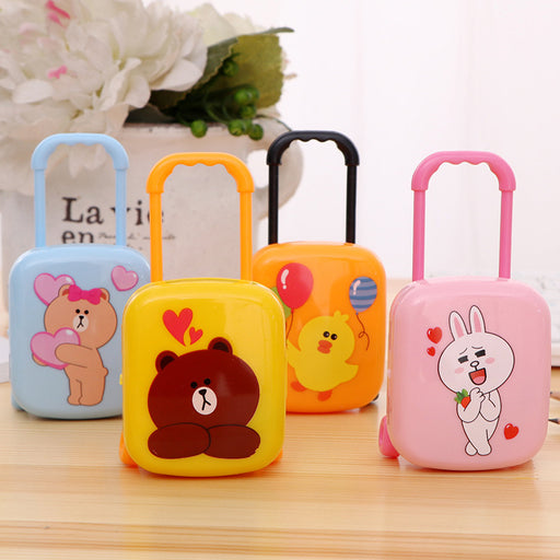 Kawaii  Japanese  Korean  Cartoon Brown Bear Rabbit Trolley Animal Eraser
