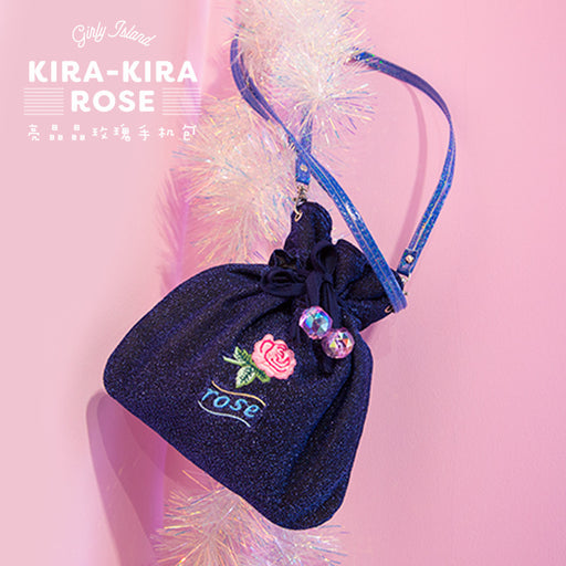 Briar rose embroidered messenger bag harajuku girl heart ins pocket bag