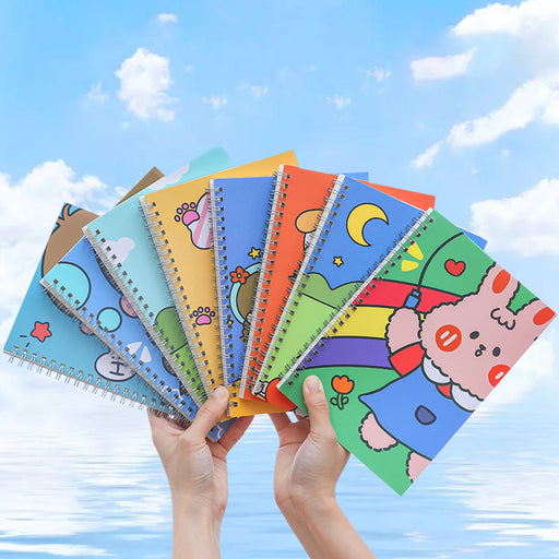 Kawaii Japanese Korean   Cartoon fun horizontal line A5 coil note book