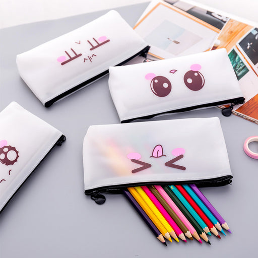 Kawaii Korean Japanese Emoji Cute Pencil Pen Pouch