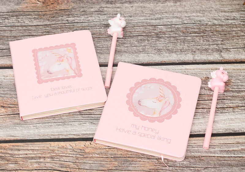 Pink Unicorn Creative Stationery Diary Student Gift Notepad Boutique Pen Notebook Journal
