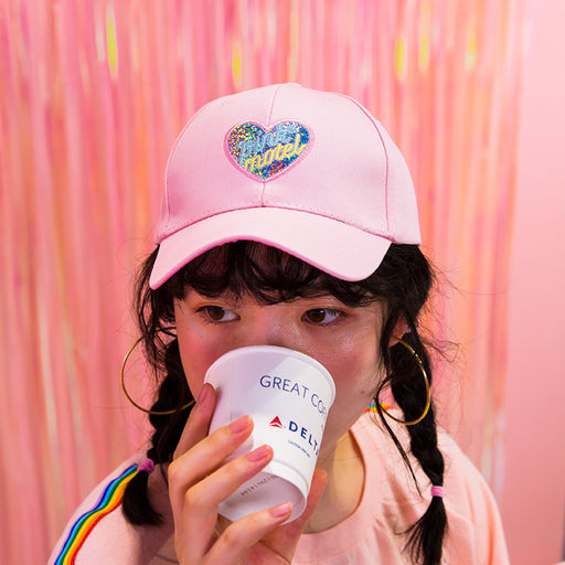 Heart words embroidered baseball cap ins style summer sun hat harajuku schoolgirl hat