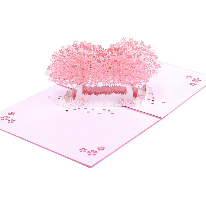 Kawaii Japanese Korean -Cherry Blossom Greeting Card Birthday Wishes Small Card