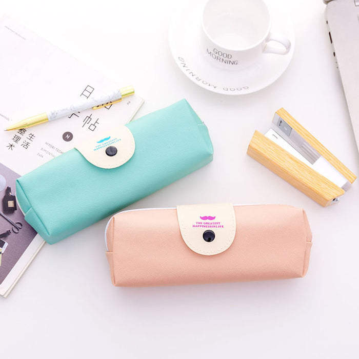Kawaii  Japanese  Korean  PU beard stationery bag pencil case pencil case