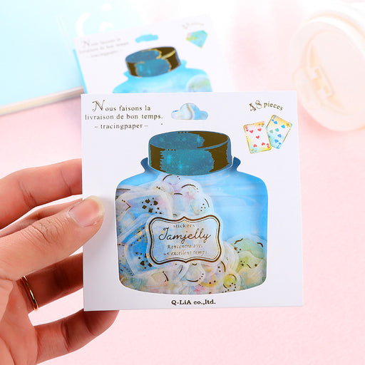 Kawaii Japanese Korean floating bottle hot stamping sticker