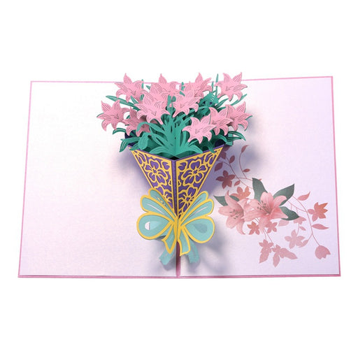 Kawaii Japanese Korean  Greeting Card Birthday Wishes Daffodil Bouquet Small Card