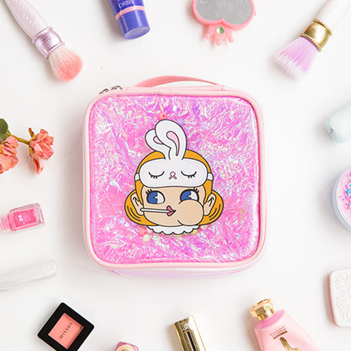 Kawaii Korean Japanese Milkjoy Stick Mermaid Bead CosmeticLaser Cute Girl Bulk Makeup Bag