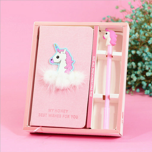 Kawaii Korean Japanese Girl Heart Unicorn Hand Book Student Diary Learning Notebook Journal