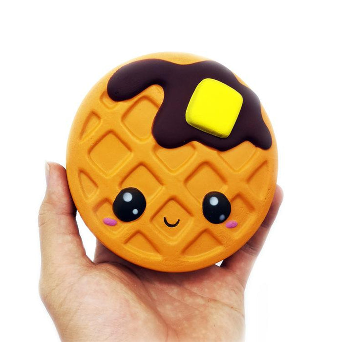 Silly Squishy - Chocolate cute face simulation waffle PU decompression toy