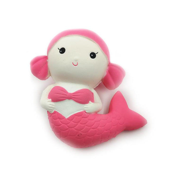 Silly Squishy - Slow bounce toy mermaid squishy simulation pu cartoon with incense extruding model toys