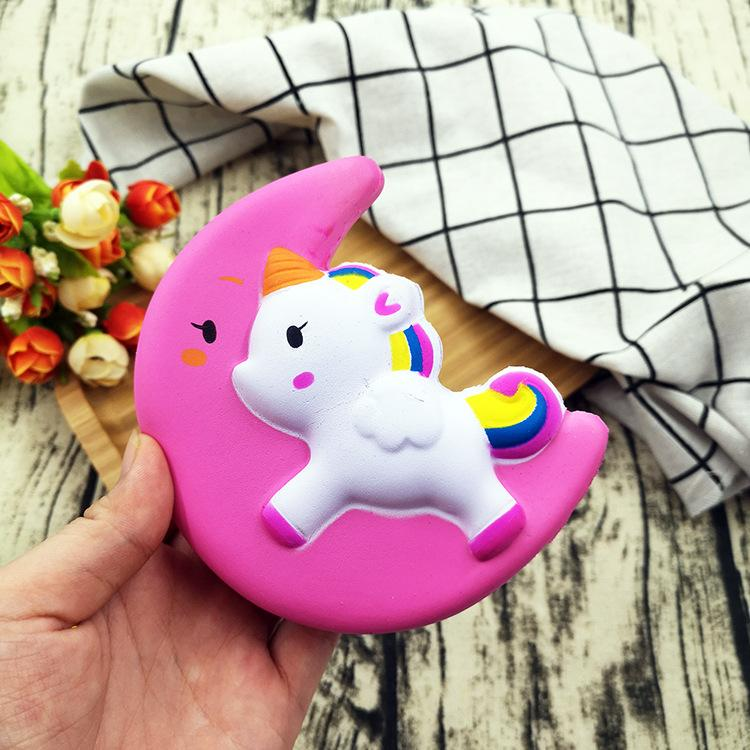 Silly Squishy - Moon pegasus unicorn PU slow rebound toy model release toy