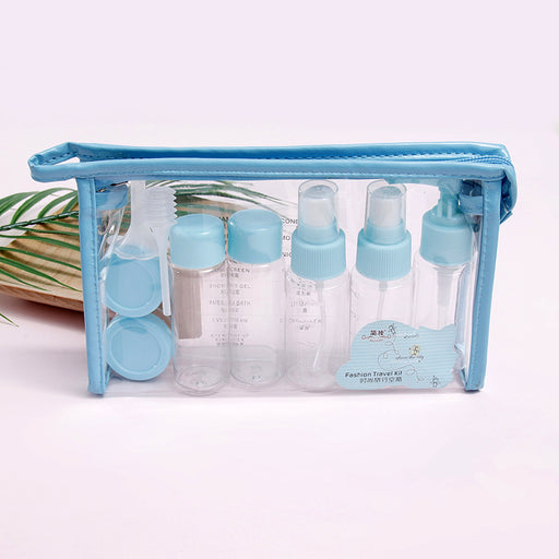 Kawaii  Japanese  Korean Jane makeup 10-piece portable travel empty bottle set dispenser