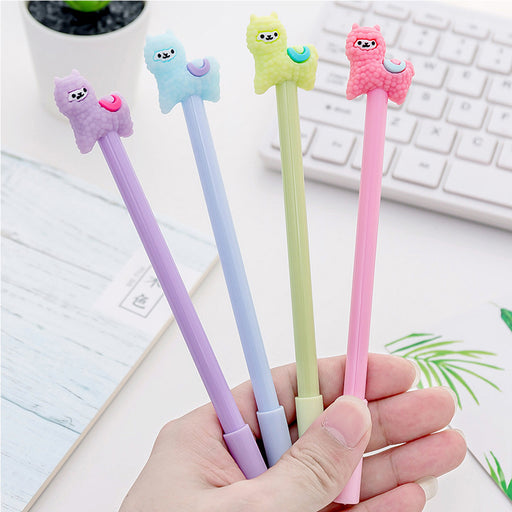Kawaii Japanese Korean  Cute card alpaca gel pen