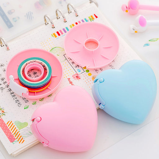 Kawaii Japanese Korean  Cartoon portable donut tape holder / invisible tape  Dispenser
