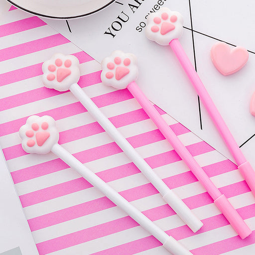 Kawaii  Japanese  Korean  ins girl heart pink cat paw gel pen
