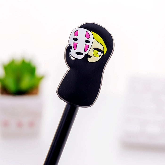 Kawaii Korean Japanese Hayao Miyazaki Anime Spirited Away Shen Yin Creative Cartoon Faceless Man Gel Pen