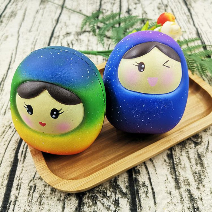 Silly Squishy - Colorful star doll squishy children release pressure toys