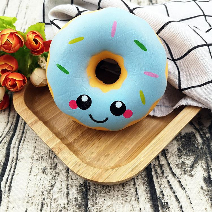 Silly Squishy - 10cm smiley face donut slowly bounces back to PU children's imitation ornaments food venting toy squishy
