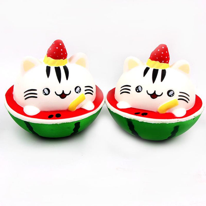 Silly Squishy - Watermelon cat PU slow rebound Squishy