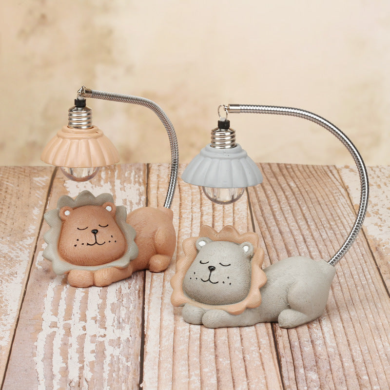 Creative Birthday Student Wind Chimes Stationery Little Lion Piggy Bank Night Light Decoration Gift Crafts Pen Holder