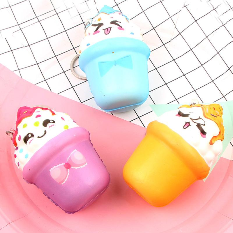 Silly Squishy - Kawaii Korean Japanese Slow Rebound Long Cake Pu Keychain Pendant Simulation Food Toy Squishy