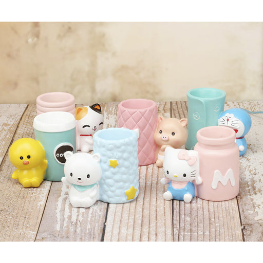 Groceries Creative Exquisite Anime Cartoon Stationery Gifts Resin Pig Meng Student Gift Pen Holder