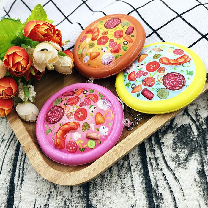 Silly Squishy - Color printing pizza slow rebound decompressed pizza squishy pendant simulation food toy pendant