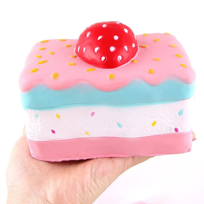 Silly Squishy - Kawaii Korean Japanese Slow Rebound Cross-Border Square Strawberry Cake Squishy